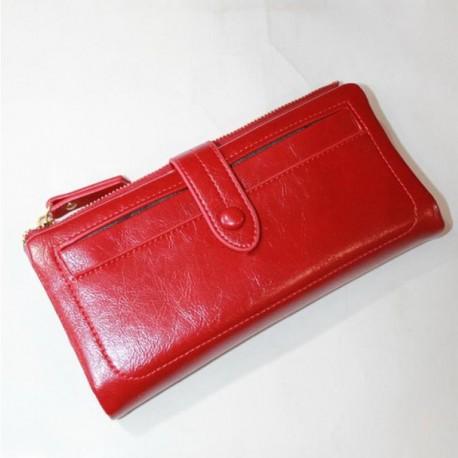 Женский кошелек из эко кожи (красный)