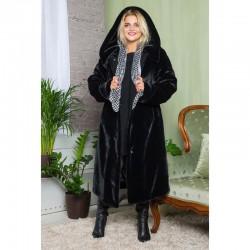Женская мутоновая шуба Оливия, черная
