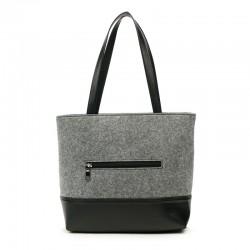 Комбинированная сумка из войлока