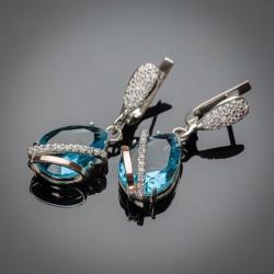 Сережки из серебра Сюзанна (голубой)