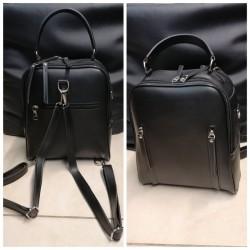 Женский рюкзак матовый (черный)
