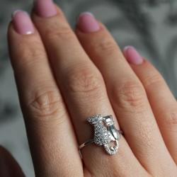 Кольцо Парочка из серебра