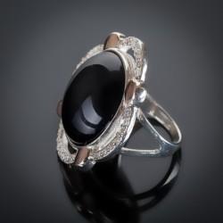 Кольцо Сияние серебро с золотом