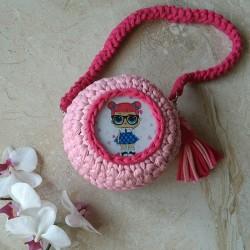 Детская сумочка LOL из трикотажной пряжи
