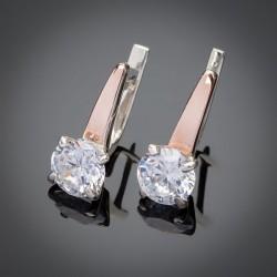 Кристалл - женские серьги из серебра