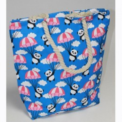 Пляжная сумка Панда (синий)