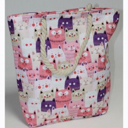 Пляжная сумка Коты (розовый)