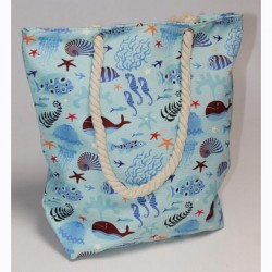 Пляжная сумка Морская (голубой)