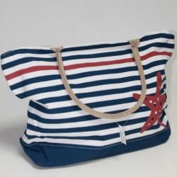 Пляжная сумка большая, в полоску