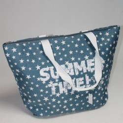 Модная пляжная сумка со звездами, на молнии