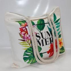 Женская пляжная сумка Summer (беж)