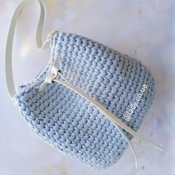 Cумка торба из шнура и эко кожи