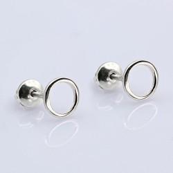 Серебряные серьги-пусеты Циклон
