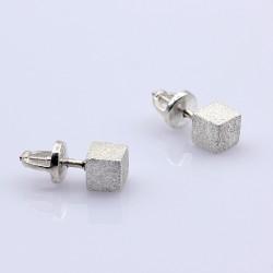 Серебряные пусеты Визаж на вкрутках