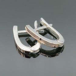Серебряные серьги Классик с золотой пластиной
