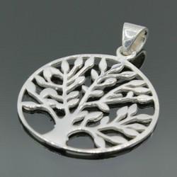Серебряный кулон Дерево жизни 25 мм