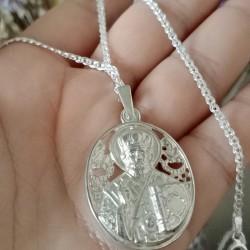 Серебряная цепочка 925 пробы, плетение Нонна
