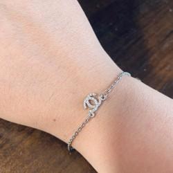 Женский серебряный браслет Chanel