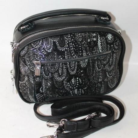 Овальная сумка клатч (черный)