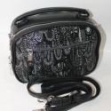Овальная сумка клатч с узором В21хШ18хГ10 см