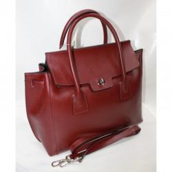 Женская сумка портфель красного цвета
