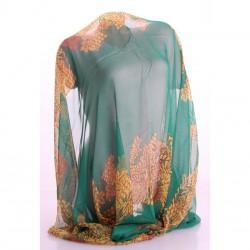 Летний женский шарф (зеленый)
