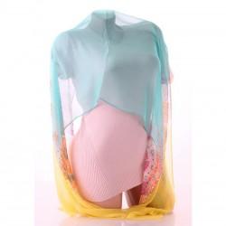 Двухцветный шарф с градиентом