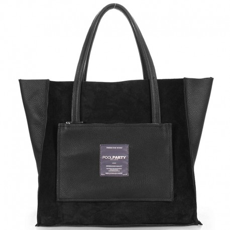 Сумка-трансформер Poolparty SOHO INSIDEOUT TOTE VELOUR (черный)