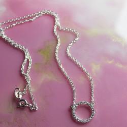 Серебряная цепочка Принцесс 925 пробы с кругом