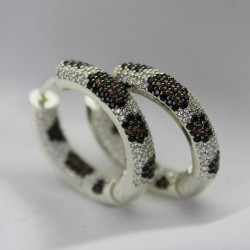 Серебряные серьги кольца Тигрики