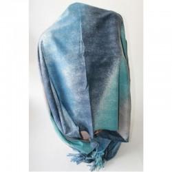 Женский палантин из вискозы (голубой)