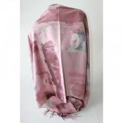 Женский палантин из вискозы (розовый)