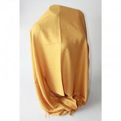 Теплый палантин с бахромой (желтый)