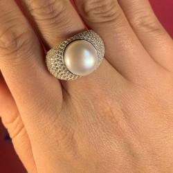 Серебряное кольцо Мелинда (белый)