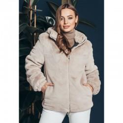 Короткий полушубок куртка на молнии