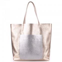Poolparty MANIA - сумка из натуральной кожи c центральной вставкой