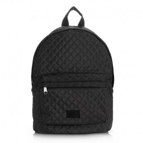Стеганый рюкзак Poolparty (черный)