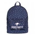 Рюкзак с принтом ЗВЕЗДЫ темно-синего цвета