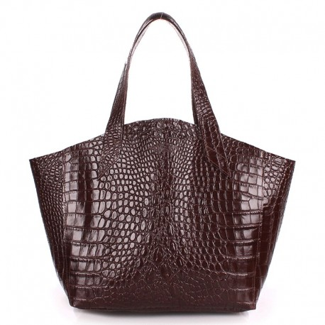 Кожаная женская сумка Poolparty FIORE CAIMAN