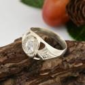 Женское серебряное кольцо Индира с цирконом