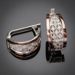 Фея - женские серебряные серьги