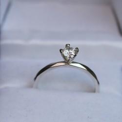 Серебряное кольцо Симпатия с цирконом