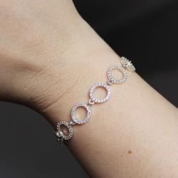 Женский серебряный браслет Принцесс