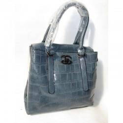 Женская сумка из экокожи (голубой)