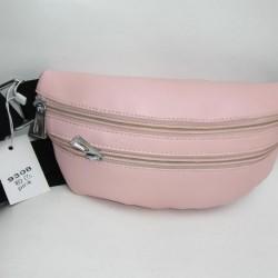 Женская сумка бананка на пояс (розовый)