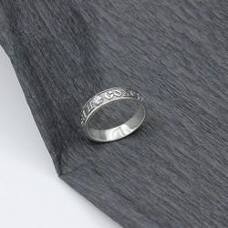 Серебряное кольцо Спаси и сохрани черненое
