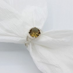 Серебряное кольцо Глаз Дракона (хамелеон)