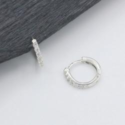 Серебряные серьги-кольца Орланда 14 мм