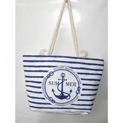 Тканевая пляжная сумка с якорем