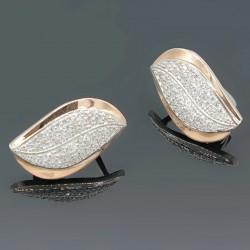Серебряные серьги с камнями Морская волна